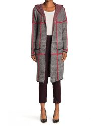 Joseph A Multicolor Hooded Long Cardigan