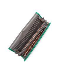 Vivienne Westwood - Green Long Reptile-embossed Plaster Leather Wallet - Lyst