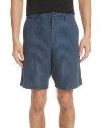 Rag & Bone Blue Rag + Bone Stripe Shorts for men