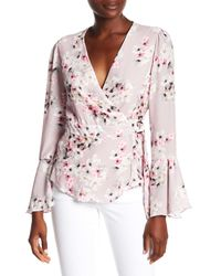 Parker - Pink Wrap Front Blouse - Lyst