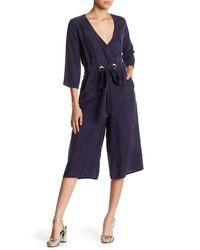 Line & Dot - Blue Rue Grommet Jumpsuit - Lyst