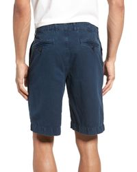 Billy Reid Blue Clyde Cotton & Linen Shorts for men