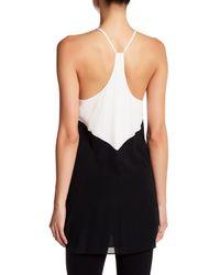 Alice + Olivia Black Belinda Colorblock Silk Tunic Dress