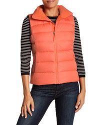 The North Face Orange Quilted Puffer Vest