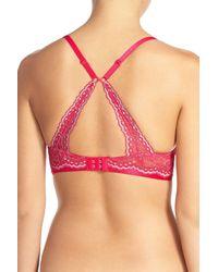 On Gossamer - Multicolor Beautifully Basic Lace Trim Underwire Plunge Bra - Lyst