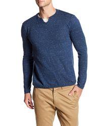 Autumn Cashmere - Blue V-neck Long Sleeve Shirt for Men - Lyst