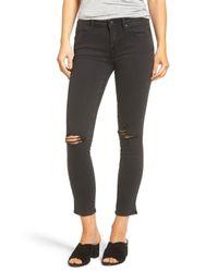 Vigoss Black Chelsea Slit Hem Skinny Jeans