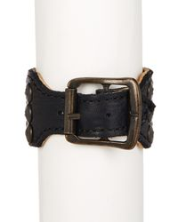 Frye - Black Stud Leather Cuff - Lyst