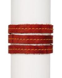 Frye   Red Campus Wrap Leather Cuff   Lyst