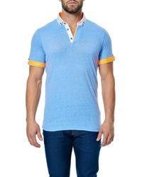 Maceoo - Blue Colorblock Short Sleeve Polo for Men - Lyst