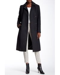 Cole Haan | Multicolor Wool Blend Belted Notch Collar Maxi Coat | Lyst