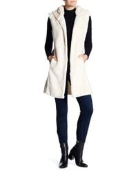 La Fiorentina - Natural Genuine Fur Hooded Vest - Lyst