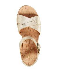 Kork-Ease Metallic 'myrna 2.0' Cork Wedge Sandal