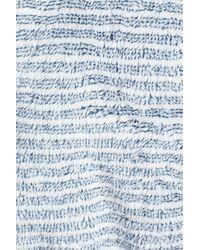Daniel Buchler - Blue Triple Stripe Fleece Robe for Men - Lyst