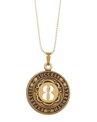 ALEX AND ANI - Metallic Numerology Number 8 Charm Adjustable Necklace - Lyst