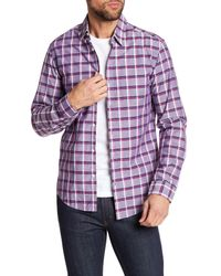 BOSS Purple Bustai Plaid Regular Fit Shirt for men