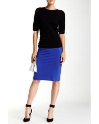 Philosophy   Blue Solid Ponte Pencil Skirt   Lyst