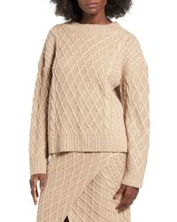 Finders Keepers - Natural Odom Cable Knit Sweater - Lyst