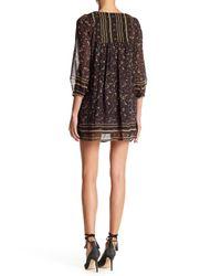 Joie - Black Abba Paisley Silk Dress - Lyst