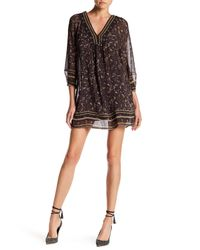 Joie - Black Abba Paisley Silk Dress - Lyst