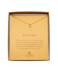 Dogeared - Metallic 14k Gold Plated Sterling Silver Baby Heart Sister Necklace - Lyst