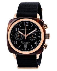 Briston - Black Chronograph Nylon Strap Watch, 40mm - Lyst