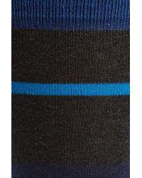 Bugatchi - Blue Stripe Socks for Men - Lyst