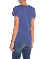 Alternative Apparel - Blue The Keepsake V-neck Tee - Lyst