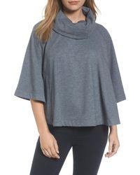 Caslon - Gray Caslon Cowl Neck Sweatshirt - Lyst