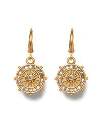 Vince Camuto Metallic Star Charm Museum Hoop Earrings