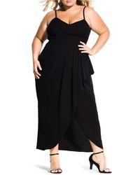 City Chic Black Romance Maxi Dress (plus Size)