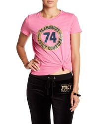 Juicy Couture - Pink Logo Glam Tee - Lyst