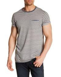 Levi's - Gray Luke Short Sleeve Striped Tee for Men - Lyst