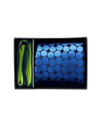 Ted Baker | Blue Devon Dot Silk Tie & Pocket Square Set for Men | Lyst