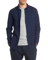 Scotch & Soda | Blue Double Weave Indigo Shirt for Men | Lyst