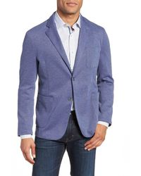 Bugatchi - Blue Regular Fit Piqu? Blazer for Men - Lyst