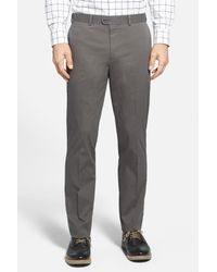 Bensol - Gray Washed Trim Fit Stretch Cotton Trousers for Men - Lyst