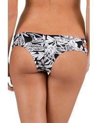Volcom | Black Branch Out Cheeky Bikini Bottoms | Lyst