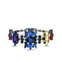 Steve Madden - Gray Casted Stone Star Link Bracelet - Lyst