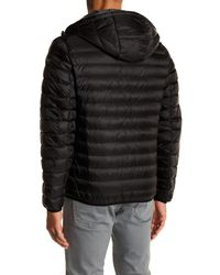 Tumi - Black Nano Packable Hooded Coat for Men - Lyst