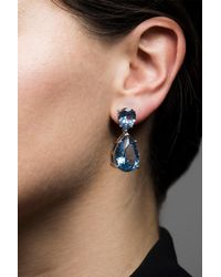 CZ by Kenneth Jay Lane - Blue Cz Teardrop Drop Earrings - Lyst