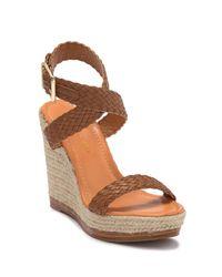 Madden Girl Brown Narla Wrap-around Ankle Strap Wedge Platform Sandal