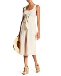 Lush - Natural Sleeveless Jumpsuit - Lyst