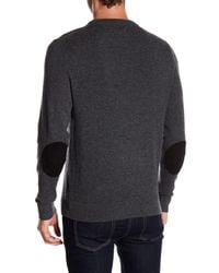 FRAME - Gray Elbow Patch Cashmere Sweater for Men - Lyst