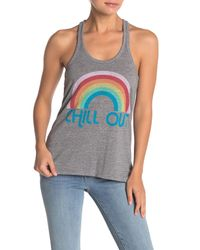 Chaser Gray Chill Out Vintage Triblend Jersey Tank Top