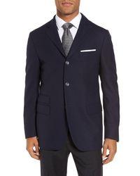 Corneliani - Blue Id Classic Fit Wool Jacket for Men - Lyst