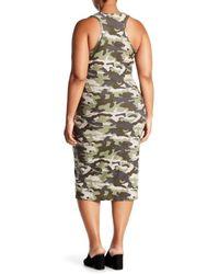 Derek Heart Green Racerback Midi Tank Dress (plus Size)