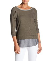 Olive & Oak - Green Soho Layered Sweater - Lyst