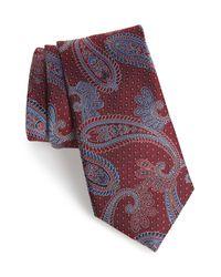 Nordstrom Red Paisley Silk Tie for men