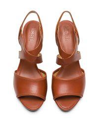 Camper - Brown Myriam Block Heel Sandal - Lyst